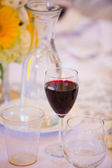Wine in Glass at Wedding — Stock Photo