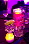 Wedding Flowers and Decor at Reception — Stock Photo