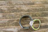 Wedding Rings Macro — Stock Photo