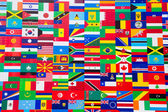 International Flag Display of Various Countries — Stock Photo