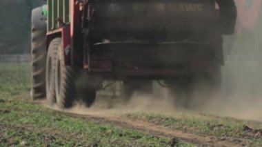 Close-up of a Muck Spreader — Stock Video