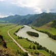 River Katun mountain Altai — Stock Photo