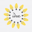 Creative idea in bulbs shape, idea concept — Zdjęcie stockowe