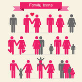 Family icons — Stock Photo