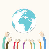 Hands Save The Earth — Stock Photo
