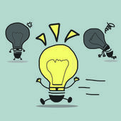 Light bulb ,Vector cartoon business — Stock Photo