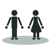 Vector man and woman — Stock Photo