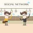 Social network,businessman — Stock vektor