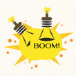 Bulb Bomb,Vector Illustration — Vettoriali Stock