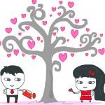 Couple design over white background vector illustration — Stock Vector #36141735