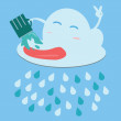 Rain.Vector image — Stock Vector