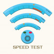 Speed internet test,wifi. — Stock Vector