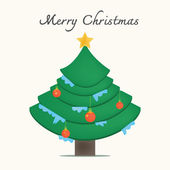 рождественская елка векторное изображение — Cтоковый вектор