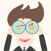 Business man looking future — Stock Vector