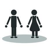Vector man and woman — Stock Vector