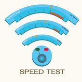 Speed internet test,wifi. — ストックベクタ