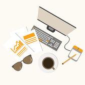 Workspace — Stock Vector