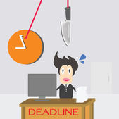 Businessman Time Deadline — Stock Vector