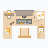 Workplace — Stock Vector