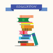 Stack of books, concept of education. — Stock Photo