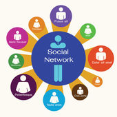 Social Network,business team,infographic. — Stock Photo