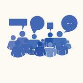 Social media people meet inside a communication speech bubble — Stock Photo