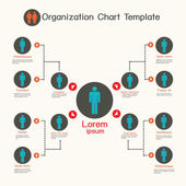 Organization chart template,business presentation — Stock Photo