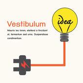 Creative light bulb,idea concept. — ストックベクタ