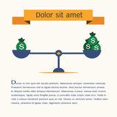 Scales symbol,vector,infographic. — ストックベクタ