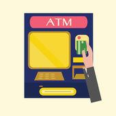 ATM,machine. — Stock Vector