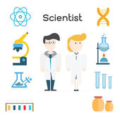 Scientist,illustration vector. — Stock Vector