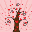 Love Tree — Image vectorielle