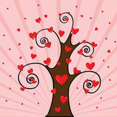 Love Tree — Stock Vector
