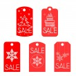 Label for Christmas sales — Stock Vector