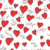 Heart i love you seamless pattern — Stok Vektör