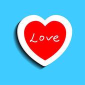 Sevgililer günü için kalp — Stok Vektör