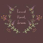 Floral Frame. — Stock Vector