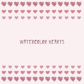 Watercolor heart. Vector illustration. — ストックベクタ
