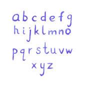 Handwritten watercolor alphabet — Stock Vector