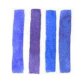 Bright watercolor stripes. Vector illustration — Stock Vector