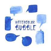 Watercolor bubble set. Vector. — Stock Vector