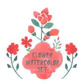 Watercolor flower. — Stock Vector