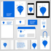 Corporate identity template. Stationery template design. Documentation for business. Vector illustration. — Stok Vektör