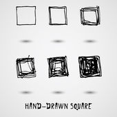 Hand drown elements. square — Stock Vector