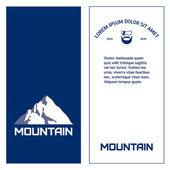 Mountain. Mountainer. — Stock Vector