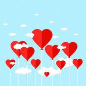 καρδιά του ουρανού — Διανυσματικό Αρχείο