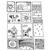 Doodles. — Stock Vector
