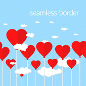 Sky seamless heart — Stock Vector
