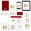 Corporate identity template. Stationery template design. Documentation for business. Vector illustration. — Stockvektor