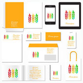 Corporate identity template. Stationery template design. Documentation for business. Vector illustration. — Stock Vector